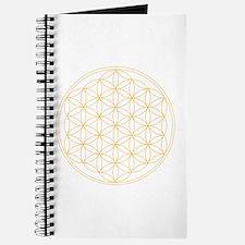 Flower of Life Gold Line Journal