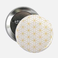 """Flower of Life Gold Line 2.25"""" Button"""