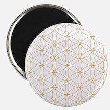 Flower of Life Gold Line Magnet