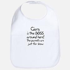 Ciara is the Boss Bib