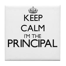 Keep calm I'm the Principal Tile Coaster