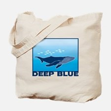 Deep Blue Sea Whale Design Tote Bag