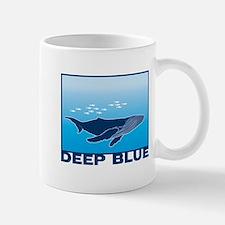 Deep Blue Sea Whale Design Mug