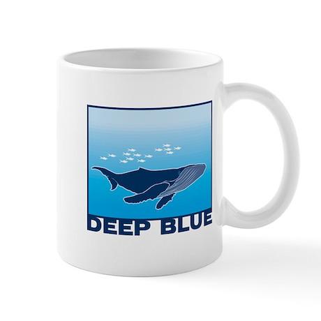 Deep blue sea whale design mug by doonidesigns for Blue mug designs