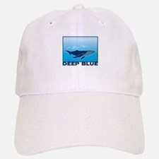 Deep Blue Sea Whale Design Baseball Baseball Cap