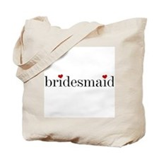Black Text Bridesmaid Tote Bag