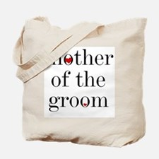 Black Text Mother Of The Groom Tote Bag