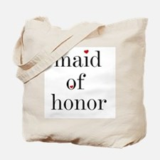 Black Text Maid Of Honor Tote Bag