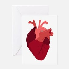 Human Heart Greeting Cards