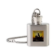 When Mom is Happy... Flask Necklace
