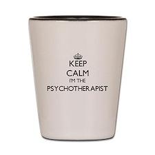 Keep calm I'm the Psychotherapist Shot Glass