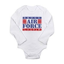 Cute Usaf aunt Long Sleeve Infant Bodysuit