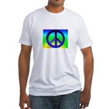 Blue Peace Sign with Psalm 34 Shirt