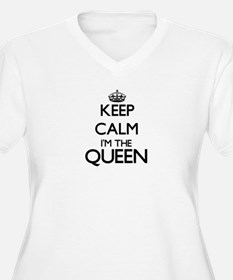 Keep calm I'm the Queen Plus Size T-Shirt