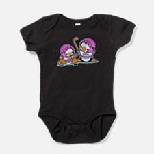 Ice Hockey Penguins Baby Bodysuit