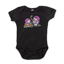 Ice Hockey Penguins (P) Baby Bodysuit
