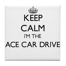Keep calm I'm the Race Car Driver Tile Coaster
