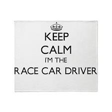 Keep calm I'm the Race Car Driver Throw Blanket