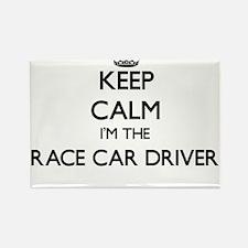 Keep calm I'm the Race Car Driver Magnets