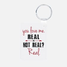 Real or Not Real Aluminum Photo Keychain