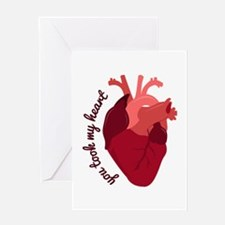 You took My Heart Greeting Cards