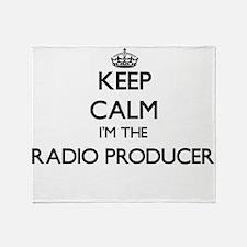 Keep calm I'm the Radio Producer Throw Blanket