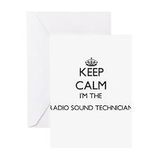 Keep calm I'm the Radio Sound Techn Greeting Cards