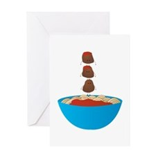 Spaghetti & Meatballs Greeting Cards