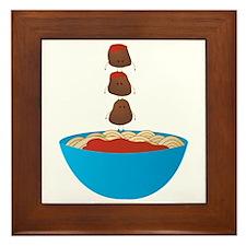 Spaghetti & Meatballs Framed Tile