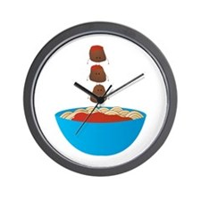 Spaghetti & Meatballs Wall Clock