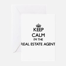 Keep calm I'm the Real Estate Agent Greeting Cards