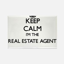 Keep calm I'm the Real Estate Agent Magnets