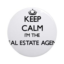 Keep calm I'm the Real Estate Age Ornament (Round)