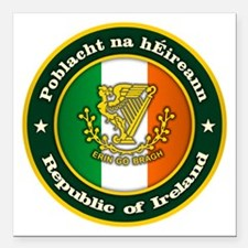 "Irish Medallion 2 Square Car Magnet 3"" x 3"""