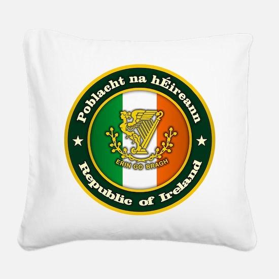 Irish Medallion 2 Square Canvas Pillow