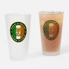 Irish Medallion 2 Drinking Glass