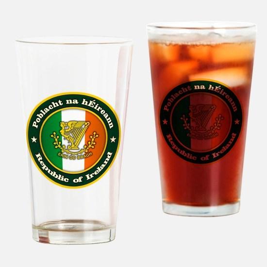 Irish Medallion 2 Drinking Glass