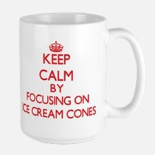Keep Calm by focusing on Ice-Cream Cones Mugs