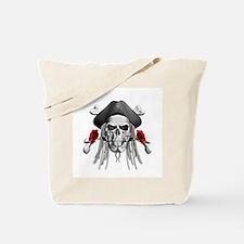 Caribbean Pirate Skulls Tote Bag
