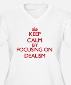 Keep Calm by focusing on Idealis Plus Size T-Shirt