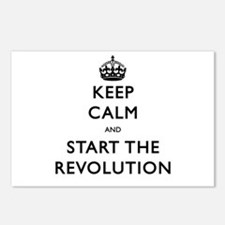 Keep Calm And Start The Revolution Postcards (Pack