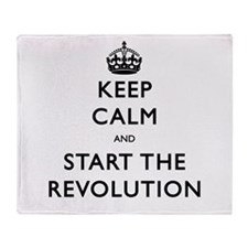 Keep Calm And Start The Revolution Throw Blanket