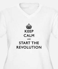 Keep Calm And Start The Revolution Plus Size T-Shi