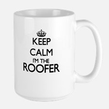 Keep calm I'm the Roofer Mugs