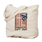Freedom isn't free Distressed Tote Bag