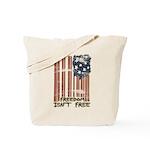 Freedom isn't free Distressed Tote Bag