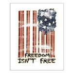 Freedom isn't free Distressed Small Poster