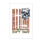Freedom isn't free Distressed Mini Poster Print