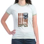 Freedom isn't free Distressed Jr. Ringer T-Shirt