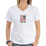 Freedom isn't free Distressed Women's V-Neck T-Shi